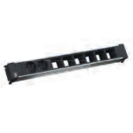 Bachmann 909.0028 power extension 2 AC outlet(s) Indoor Black, Grey