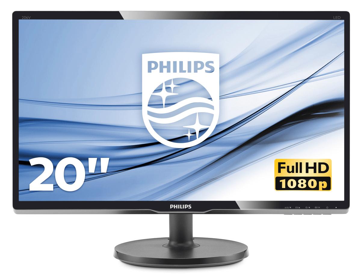 Philips V Line LCD monitor with LED backlight 200V4QSBR/00