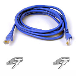 Belkin Cable Patch Cat6 RJ45 Snagless 0.5m blue networking cable