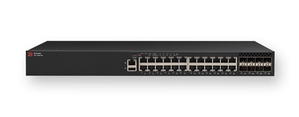 Brocade ICX 7250 Managed L3 Gigabit Ethernet (10/100/1000) Power over Ethernet (PoE) 1U Black