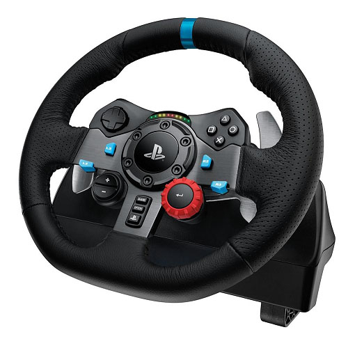LOGITECH G29 Driving Force Racing Wheel PS3 & PS4 Dual motor force feedback Helical gearing with anti-backlas