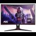 """AOC C24G2AE/BK pantalla para PC 59,9 cm (23.6"""") 1920 x 1080 Pixeles Full HD LED Negro, Rojo"""