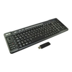2-Power KEY1004DE RF Wireless QWERTZ German Black keyboard