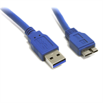 8WARE USB 3.0 Certified Cable - USB A Male to Micro-USB B Male, Blue 1m