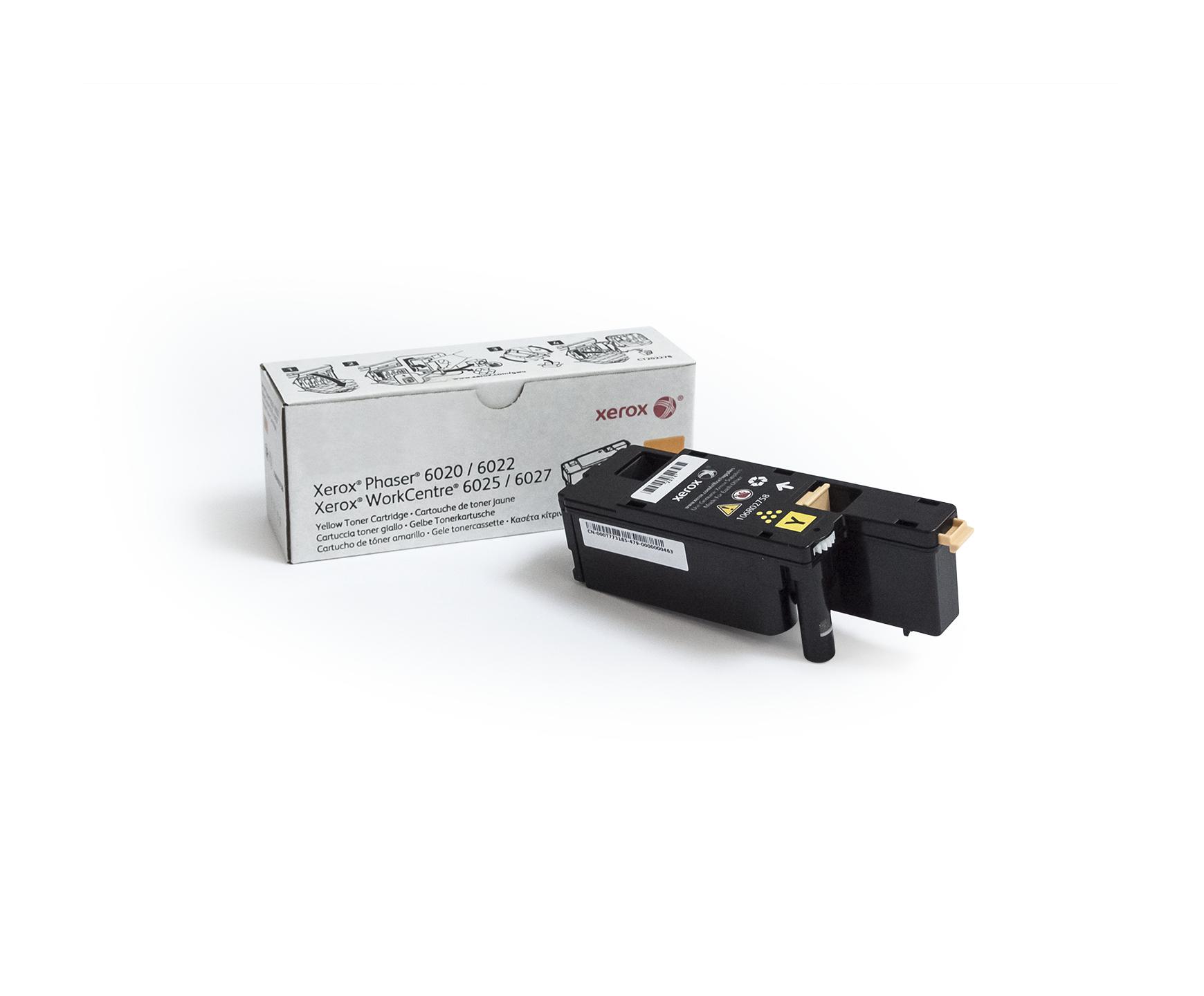 Xerox Phaser 6020/6022 WorkCentre 6025/6027 Cartucho de tóner amarillo capacidad estándar (1000 págs.)