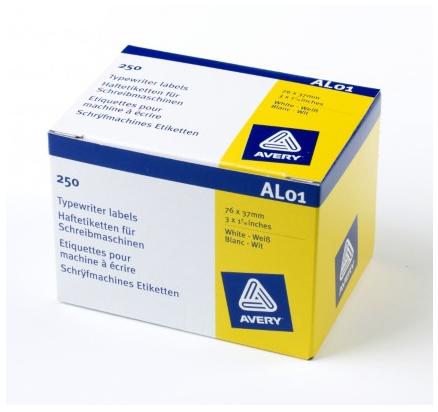 Avery AL01 addressing label White Self-adhesive label