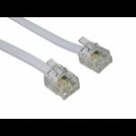 Cables Direct RJ-11, 30m White