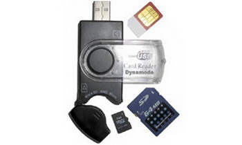 Dynamode USB-CR-31 USB 2.0 Black card reader