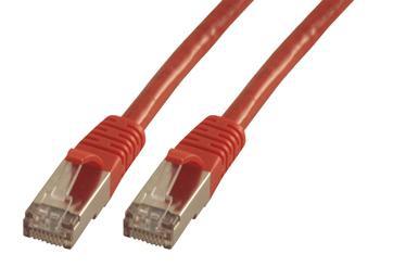 MCL CAT6 A F/UTP 0.5m cable de red 0,5 m Rojo