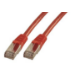 MCL CAT6 A F/UTP 0.5m cable de red 0,5 m Rojo