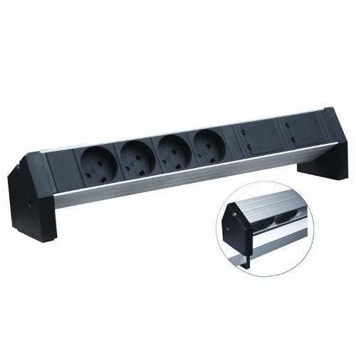Retex Aluminium PDU 380x45x45mm. Table. 4-way K Outlet+