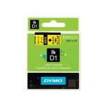 DYMO D1 (SD40918/S0720730) Label Cassette, 9mm x 7m - Black on Yellow