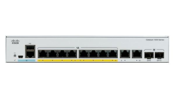 Cisco Catalyst C1000-8P-E-2G-L switch Gestionado L2 Gigabit Ethernet (10/100/1000) Gris Energía sobre Ethernet (PoE)
