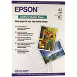 Epson Archival Matte Paper, DIN A3, 192g/m², 50 Sheets photo paper