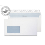 Blake Premium Office Wallet Window Peel and Seal Ultra White Wove DL 120gsm (Pack 500)