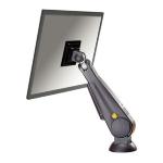 """Newstar Tilt/Turn/Rotate Desk Mount (grommet) for 10-30"""" Monitor Screen, Height Adjustable (gas spring) - Black"""
