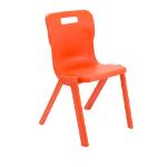 Titan Furniture One Piece Chair Hard seat Hard backrest Orange Polypropylene