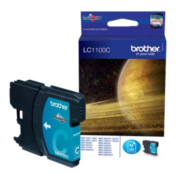 Brother LC-1100C Ink cartridge cyan, 325 pages, 8ml LC1100C