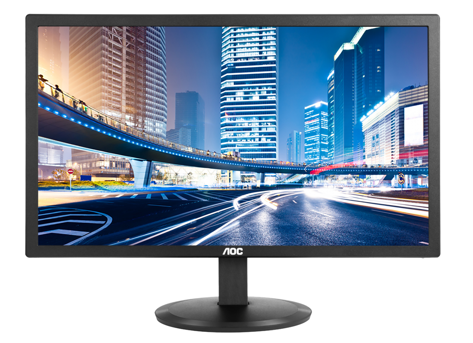 "AOC I2080SW 19.5"" HD LED Flat Black computer monitor LED display"