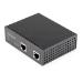 StarTech.com Inyector Industrial PoE Gigabit - 30W - 802.3at PoE+ de 48 a 56V DC - de Montaje en Riel DIN - de -40 a 75C (POEINJ1G30W)