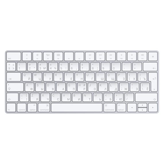 Apple MLA22RU/A Bluetooth QWERTY Russian White