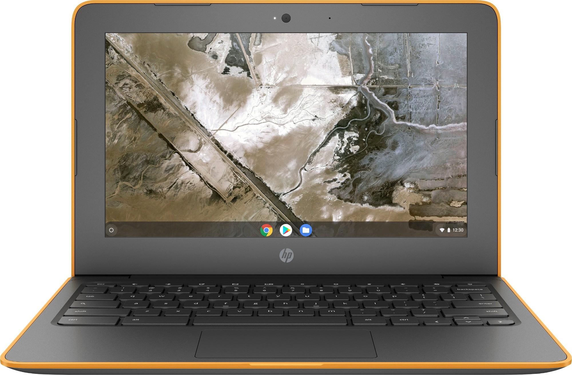 """HP Chromebook 11A G6 EE (3 = 2 6MP18EA) Grijs, Oranje 29,5 cm (11.6"""") 1366 x 768 Pixels 7th Generation AMD A4-Series APUs A4-9120C 4 GB DDR4-SDRAM 16 GB eMMC Chrome OS"""