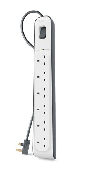 Belkin BSV603AF2M surge protector 6 AC outlet(s) 2 m White