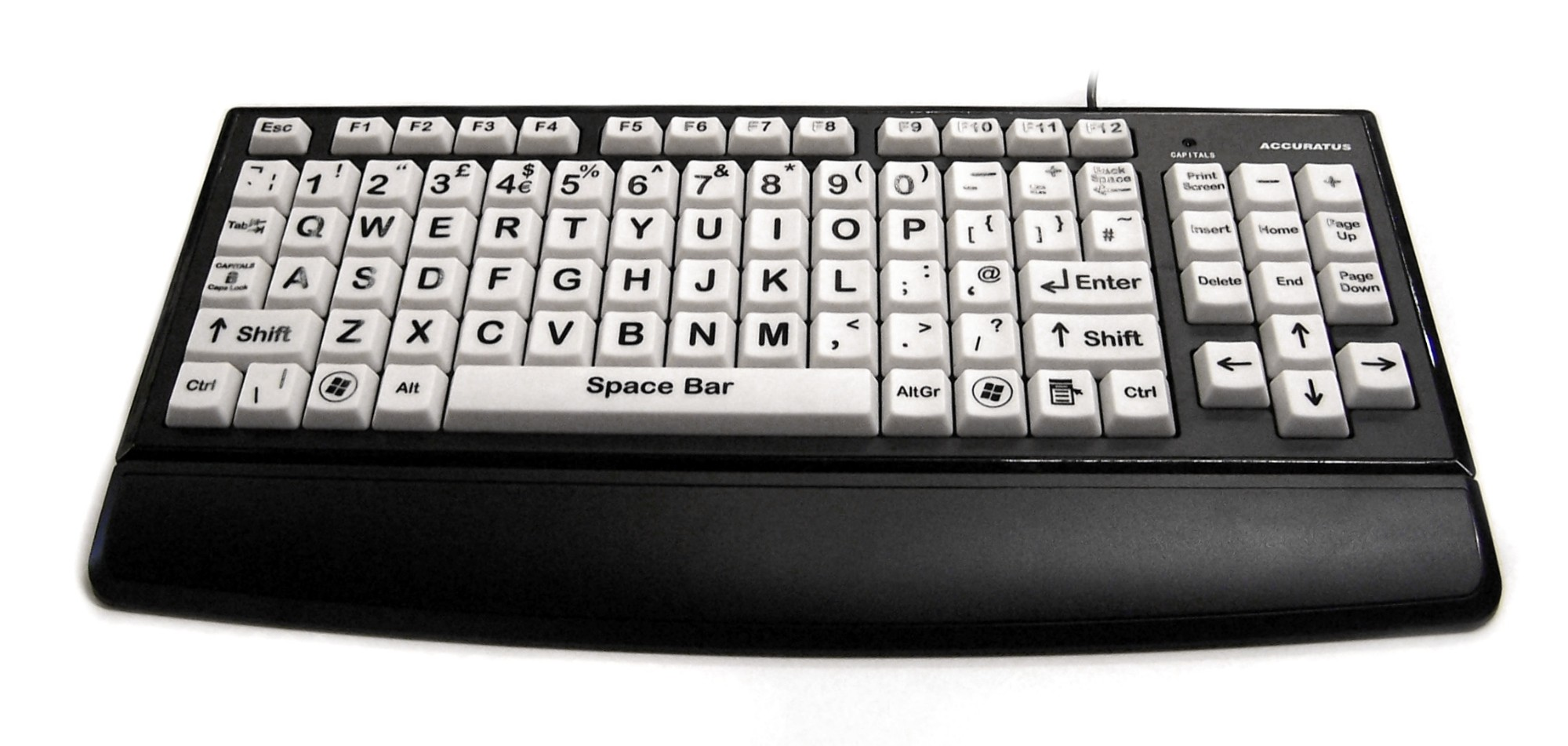 Accuratus An Accuratus product. The Black/White USB Monster keyboard has been primarily designed for