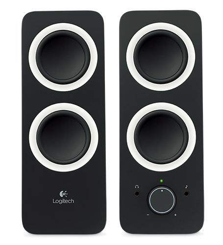 LOGITECH z200 Multimedia Speakers - Midnight Black