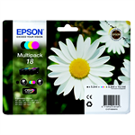 Epson C13T18064012 (18) Ink cartridge multi pack, 175pg + 3x180pg, 1x 5ml + 3x 3ml, Pack qty 4