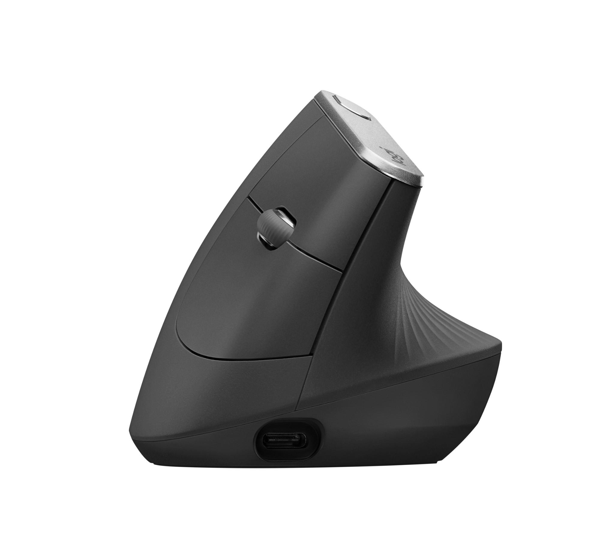 Logitech MX Vertical Advanced Ergonimic muis RF draadloos + Bluetooth Optisch 4000 DPI Rechtshandig