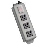 "Tripp Lite 3SP9 power extension 106.3"" (2.7 m) 3 AC outlet(s) Indoor/Outdoor Black,Grey"