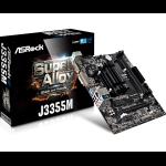 Asrock J3355M motherboard NA (integrated CPU) Micro ATX
