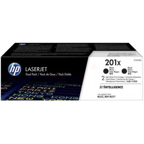 HP CF400XD (201X) Toner black, 2.8K pages, Pack qty 2