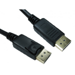 Cables Direct 99DP-010LOCK DisplayPort cable 10 m Black