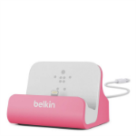 Belkin Charge and Sync Desktop Dock with Lightning Connector for Apple iPhone 7/7 Plus/SE/5/5c/5s/6/6s/6 Plus/6s Plus/iPod Nano 7th Gen/iPod Touch 5th and 6th Gen MFI Approved Pink