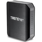 Trendnet TEW-812DRU Dual-band (2.4 GHz / 5 GHz) Gigabit Ethernet Black,Silver wireless router