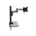 Brateck LCD Monitor Table Stand w/Arm & Desk Clamp Black VESA 75/100mm Up to 23''