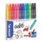 Pilot FriXion Colourng Medium Black,Blue,Brown,Green,Light Blue,Orange,Pink,Red,Turquoise,Violet,Yellow felt pen