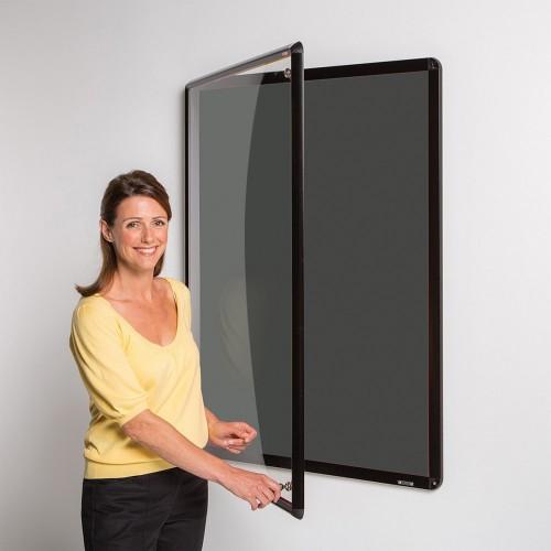 Metroplan Shield Design insert notice board Indoor Black Aluminium