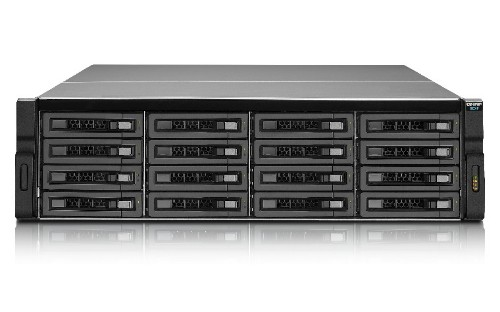 QNAP REXP-1620U-RP disk array 160 TB Rack (3U) Black