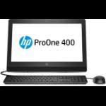 """HP ProOne 400 G3 50.8 cm (20"""") 1600 x 900 pixels 7th gen Intel® Core™ i3 4 GB DDR4-SDRAM 500 GB HDD Windows 10 Pro All-in-One PC Black"""