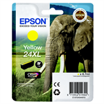 Epson C13T24344010 (24XL) Ink cartridge yellow, 500 pages, 9ml
