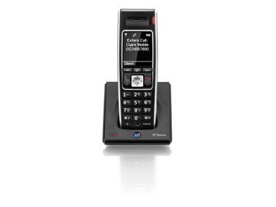 British Telecom Diverse 7400 R AHC DECT telephone handset Caller ID Black