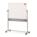 Nobo Steel Magnetic Mobile Board Horizontal Pivot 1200x900mm
