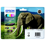 Epson C13T24284510 (24) Ink cartridge multi pack, 360 pages, 1x240pg + 5x360pg, 1x5.1ml + 5x4.6ml, Pack qty 6