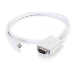 C2G 6ft Mini DisplayPort[TM] Male to VGA Male Active Adapter Cable - White