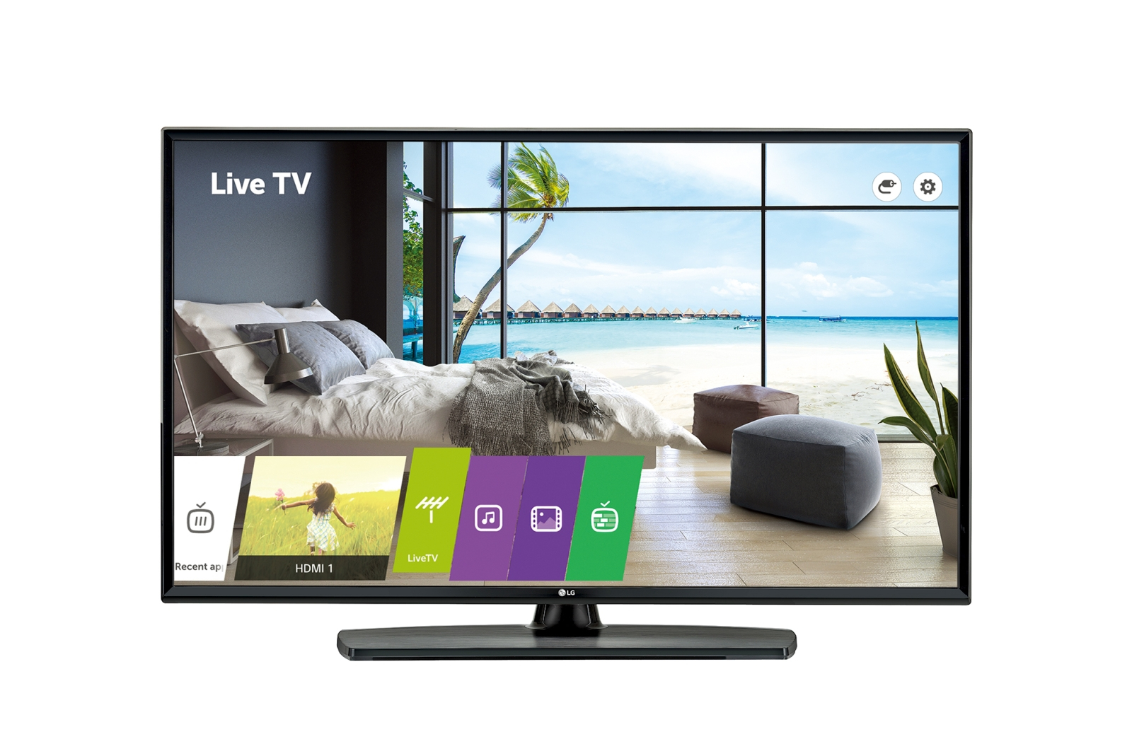 "LG 49UU661H hospitality TV 124.5 cm (49"") 4K Ultra HD 400 cd/m² Black Smart TV 20 W"