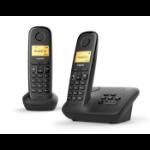 Gigaset A270A DUO Analog/DECT telephone Zwart Nummerherkenning