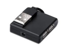 Microconnect MC-USB2.0HUB4P interface hub USB 2.0 400 Mbit/s Black